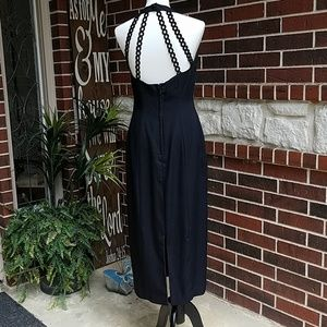 Donna Ricco Black Halter Dress
